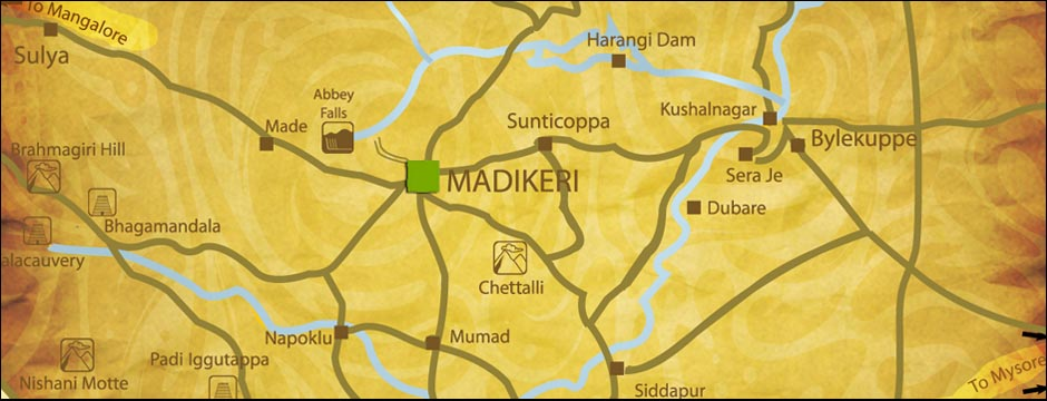 Bangalore To Madikeri Route Map CoTourist Route Map   Detailed and Easiest Route From